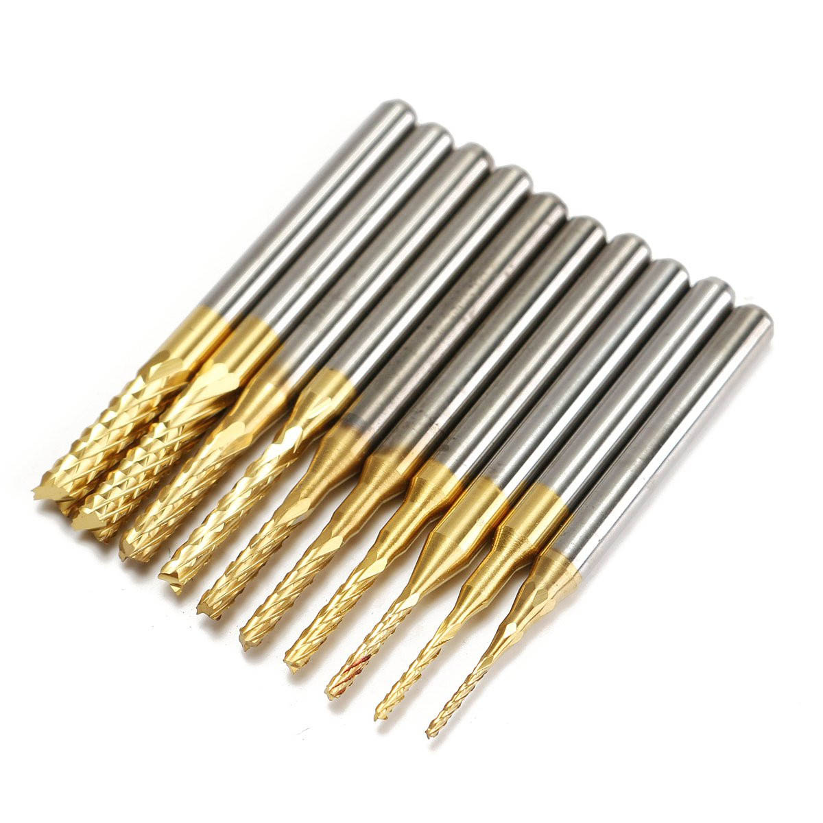 10Pcs/Box Cemented Carbide Drillpro 1/8 0.8-3.175mm CNC PCB Drill Bit Engraving Mill Cutter Durable Quality 10pcs box 1 8 inch 0 8 3 17mm pcb engraving cutter rotary cnc end mill 0 8 1 0 1 2 1 4 1 6 1 8 2 0 2 2 2 4 3 17mm