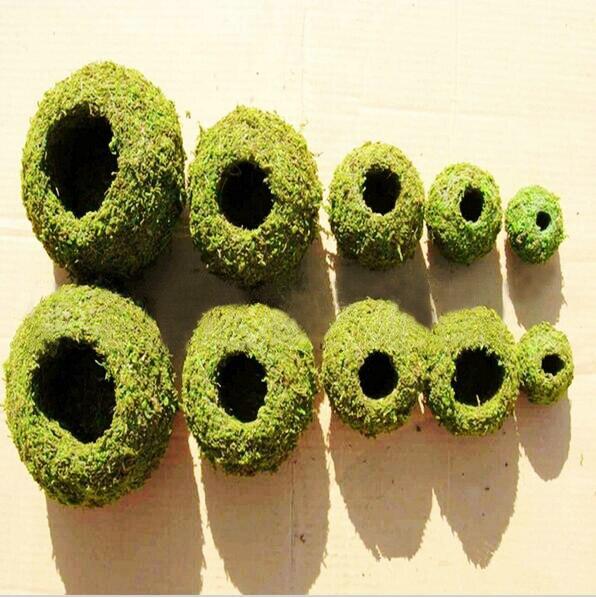 Succulent Flowerpot  Moss Home Furnishing Pots  Moss Vase Micro Landscape Gardening Moss Ball Pot DIY Material Home Decoration