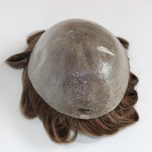 Image 3 - Simbeauty toupee para homens, peça de cabelo fino preta, sistema de substituição para homens renda renda