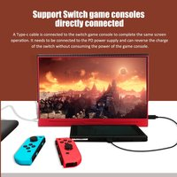 13.3 Inch Type C 5V Power Supply Portable HDR Gaming HDMI Touch Monitor For PS4 XBOX NS Ones PC Laptop Macbook Android Linux