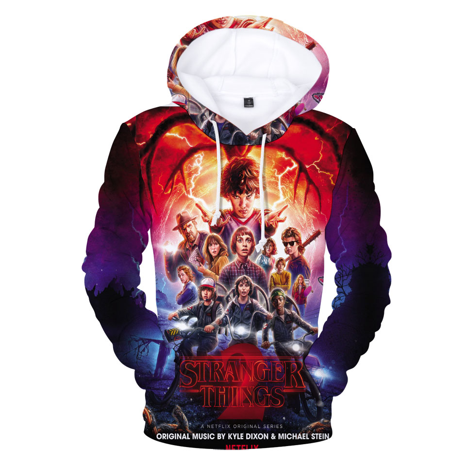 LUCKYFRIDAYF 2018 Stranger Things Cartoon New 3D Hoodies Sweatshirt Women/Men Hoodies Fashion Hoodies Casual Clothes Plus Size