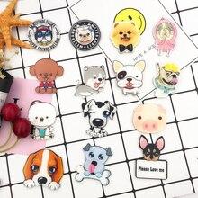 Hot Sale Brooch Popular Harajuku Cat Kawaii Acrylic 1PC Dog Cartoon For Backpacks Badges Cute Animals Clothes Pins Women