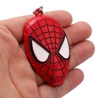 J store 12Pcs/lot Spiderman Super Hero Zinc Alloy Pendant Keychains The Avengers The Amazing Spider-Man key Chain Ring llaveros