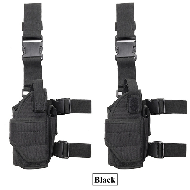 Right Drop Leg Adjustable Tactical Army Pistol Gun Thigh Holster Pouch Holder for Glock 17 19 31 32 most pistol 5