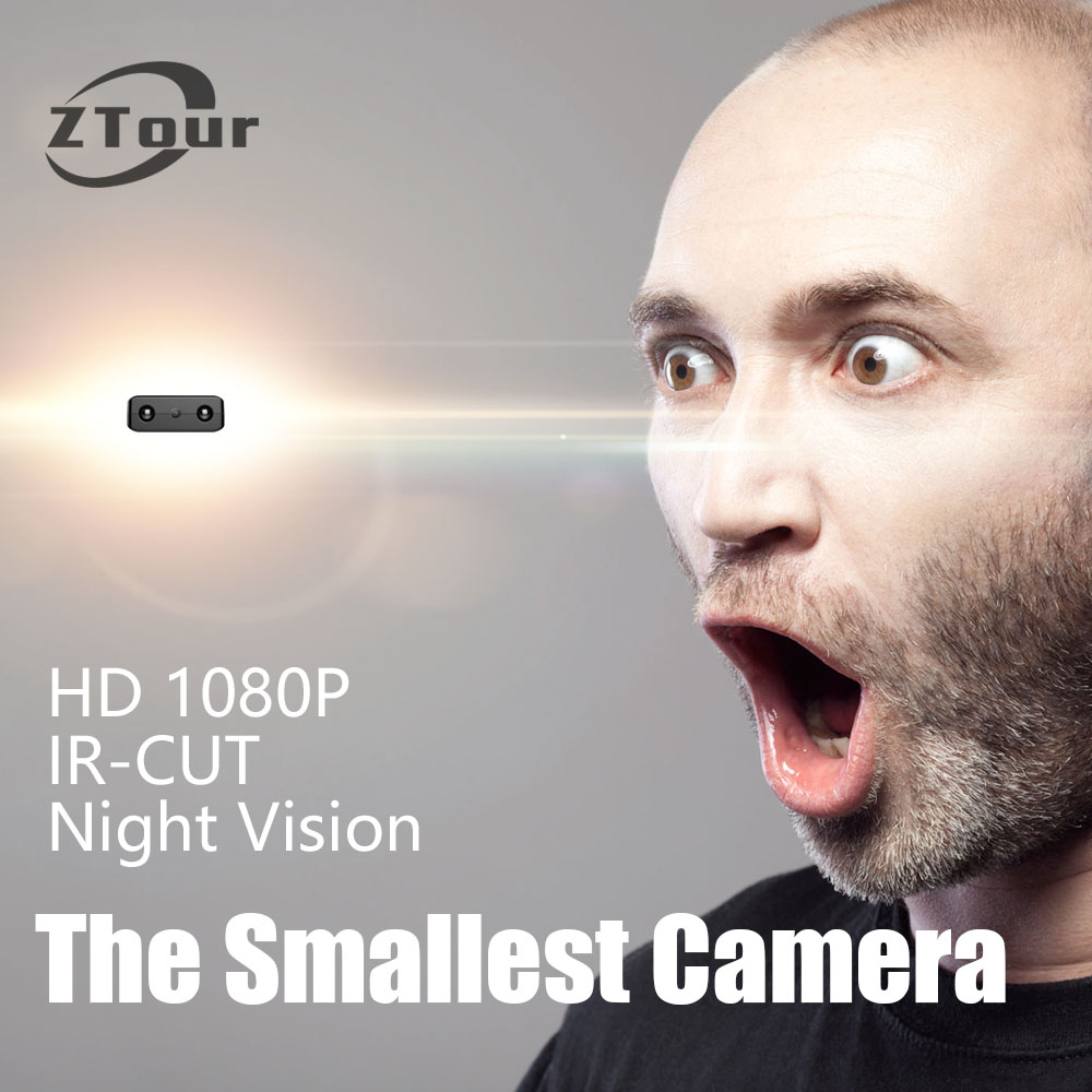 ZTour XD IR-CUT Mini Camera Smallest 1080P Full HD Camcorder Infrared Night Vision Micro Cam Motion Detection DV newest ir cut camera 1080p mini full hd camera micro infrared night vision cam motion detection dv spied cameras