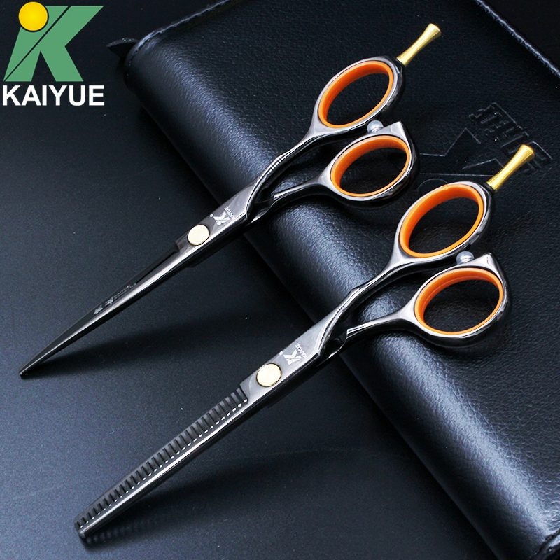 KAI YUE Professional 5 5 inch Hair Scissors High Quality Cutting Thinning Hair Shears Hairdressing Salon