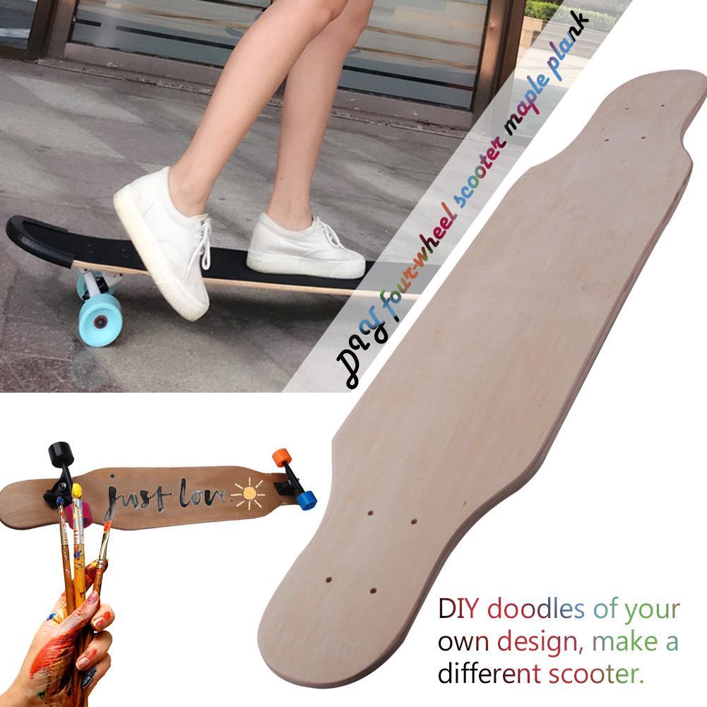 80cm 9  Layer DIY Graffiti Long Board Road Skateboard Panel Four Wheel Scooter Maple Board Skateboard Accessories
