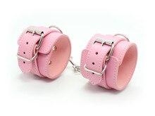 Секс Инструменты для продажи искусственная кожа наручники legcuff БДСМ фетиш ограничивающая повязка Комплект секс-игрушки взрослые игры секс для супружеской пары.