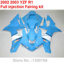 Aftermarket body parts fairings for Yamaha YZF R1 2002 2003 blue white motorcycle fairing kit YZFR1 02 03 BV34