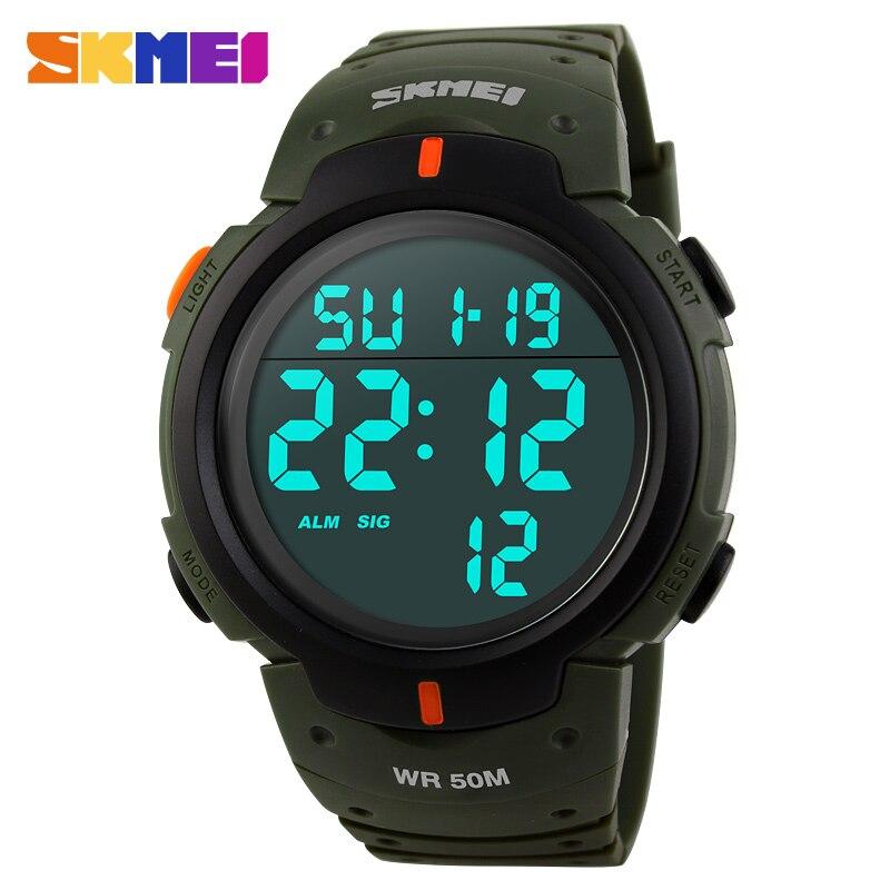 SKMEI Мужчины СВЕТОДИОДНЫЙ Дисплей Цифровые Часы Спортивные Часы Relogio Masculino Relojes Hombre Montre Homme Мода Водонепроницаемые Наручные Часы