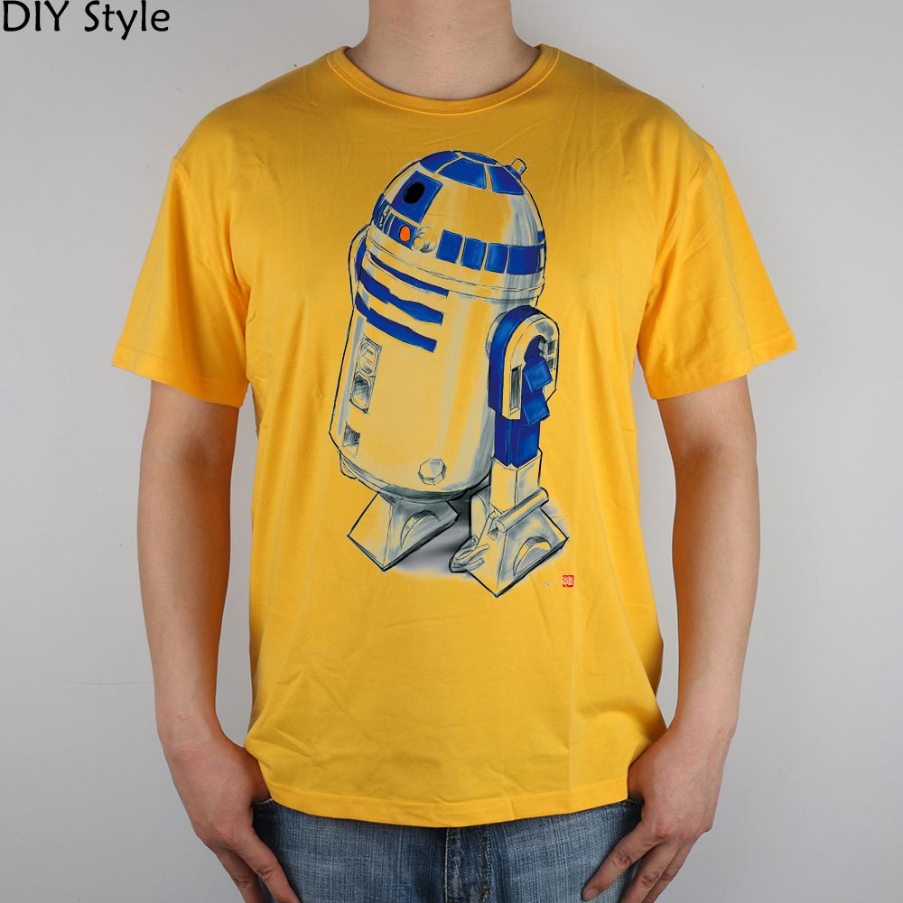STAR WARS R2D2 T-särk Top Lycra Cotton Men - Meeste riided - Foto 5