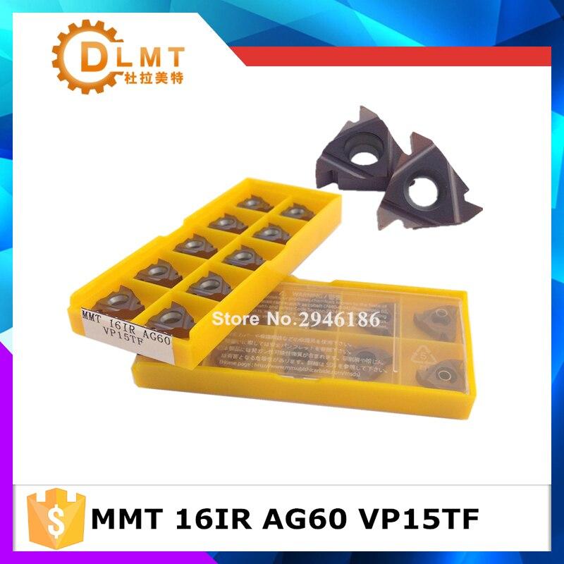 10 db MMT 16IR AG55 AG60 VP15TF menetvágó szerszámok Keményfém - Szerszámgépek és tartozékok - Fénykép 1