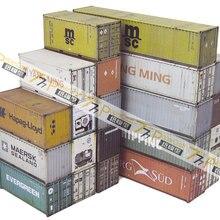 HO OO Z N масштабная модель поезда картонный контейнер городское здание сцена DIY аксессуары для поезда с бесплатным клеем