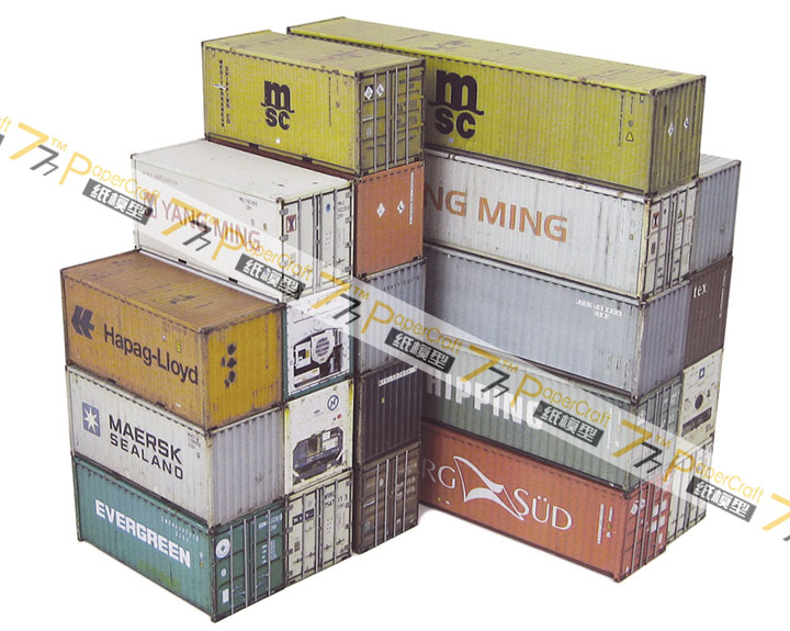 HO OO Z N Scale Model Trains Cardboard Container Town Building Scene DIY Train Accessories With Free Glue