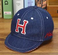 1PC 3colors Embroidered Hello H Baby Summer Hats For Boy Baseball Cap Adjustable Circumference 50cm