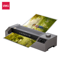 Deli Plastificadora Photo Laminator Machine Cold and Hot Laminadora A3 Fast Speed Film Laminating Office Home Laminating Machine