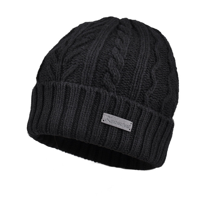 New Kenmont Autumn Winter Men Beanie Hat Wool Jacquard Outdoor Ski Chic Skullies Cap for Christmas Holiday Gifts 1759