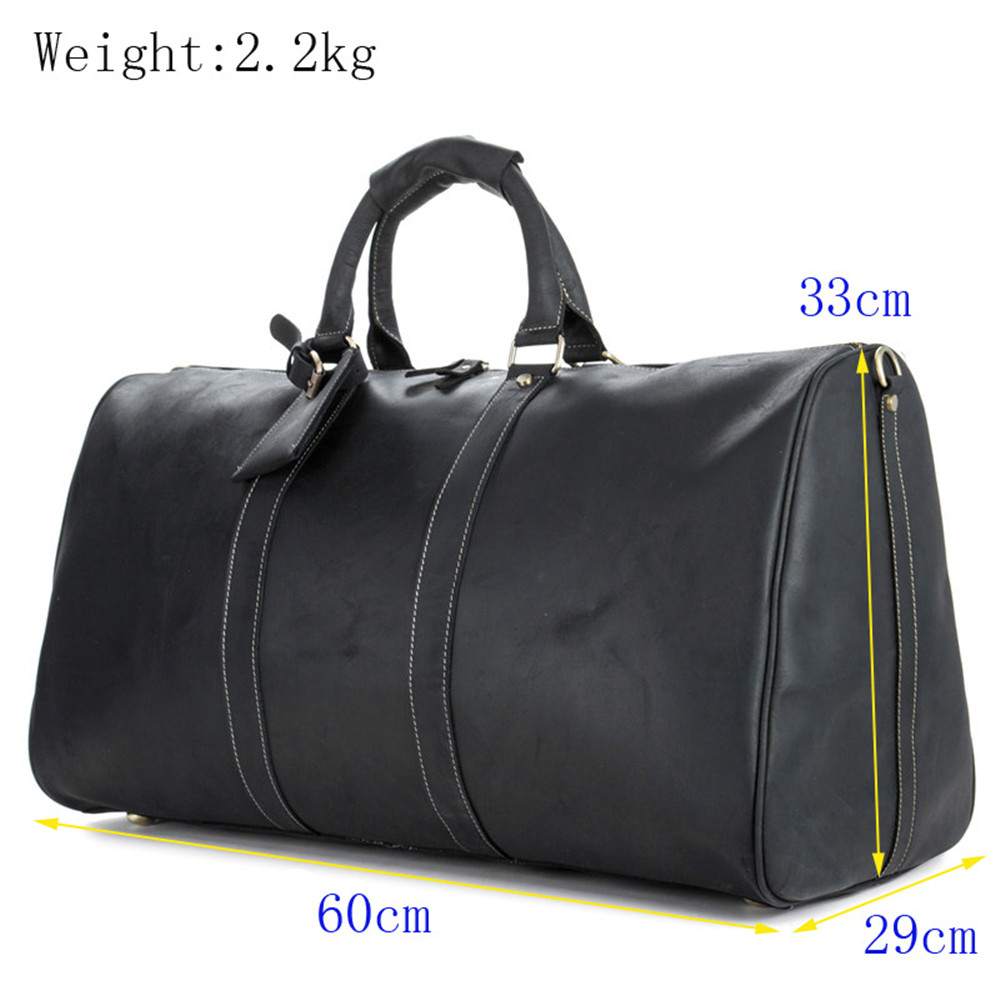 Genuine Leather Travel Bags Men Hand Luggage Duffle Bag Packing Cubes Shoulder Sports Suitcase Big Totes Weekend Bag Reisetasche