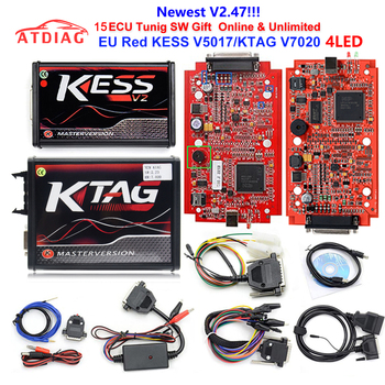 2019 KESS Ktag K TAG V7.020 KESS V2 V5.017 SW V2.25 v2.47 2.47 Master ECU Chip Tuning Tool K-TAG 7.020 Online Better KTAG V7.003 telephony