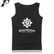 Harajuku LUCKYFRIDAYF Hearthstone Tank Tops Game Anime Print Summer Sleeveless Print Fashion Men/Women Outwork Casual Clothes цена