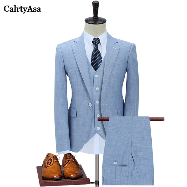 Calrtyasa 2019 Men S Wedding Dress Jacket Vest Pants Male