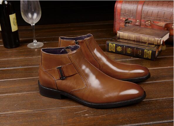 De Richelieu Bottes Casual Et Haute As Chaussures Automne Hommes Pic chocolat Martin Sculpté Britannique Hiver FqtSRz