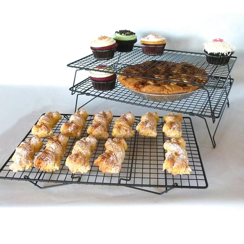 3 Tier Non stick Cake Cooling Rack Kitchen Baking Cupcake Cooler Stand Cake Drying Rack Holder