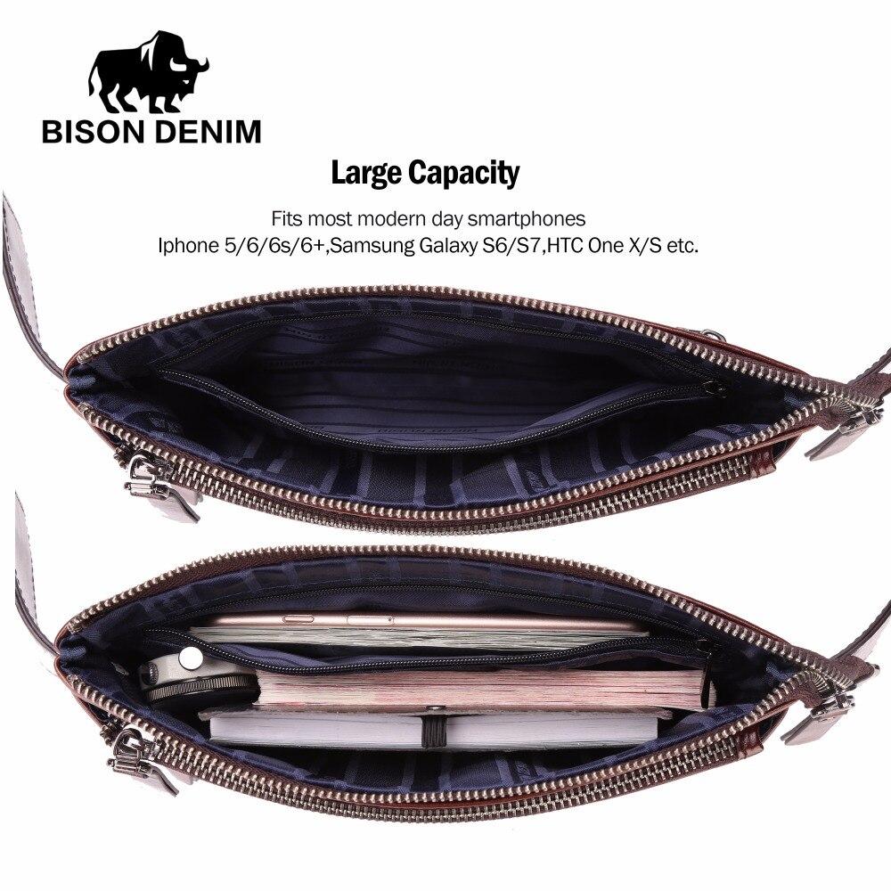 BISON DENIM Läder Waist Pack Äkta Läder Waist Väska Ipad Mini - Bälten väskor - Foto 3