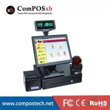 Новый 15 дюймов TFT ЖК-дисплей весь набор pos2119 POS машина эпос ресторан/Фастфуд pos
