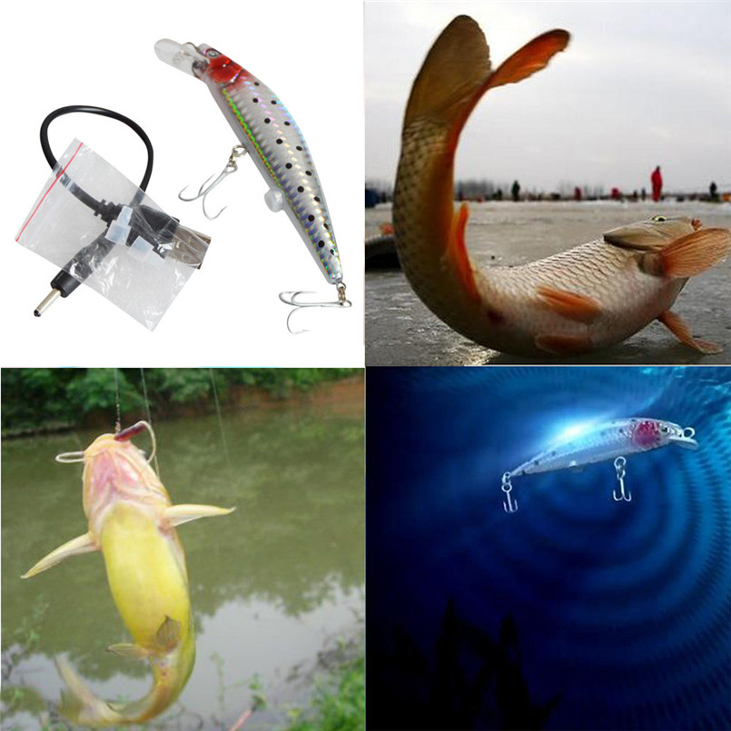 New arrival 2017 Useful Rechargeable Twitching Fishing Lures Bait USB Recharging Cords Precious pesca baits fishing lures tackle bait hooks usb rechargeable twitching lures bait usb recharging cords precious fishing accessorie a1