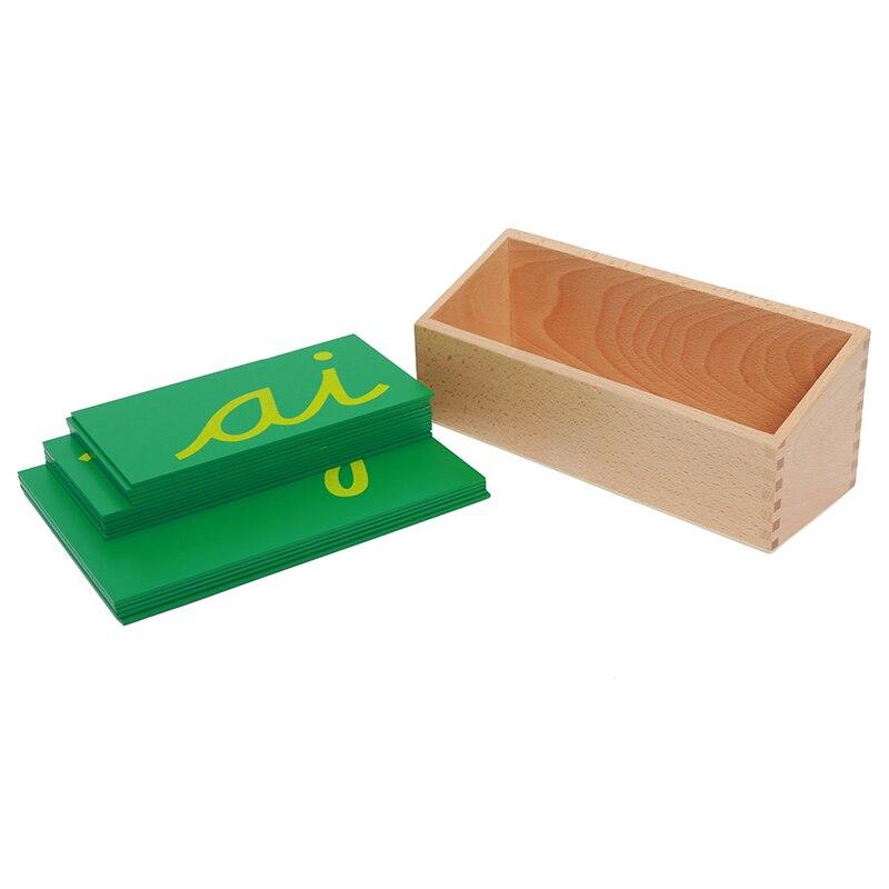 Bébé jouet Montessori papier de verre Double lettres Cursive avec boîte début préscolaire Brinquedos Juguetes - 2