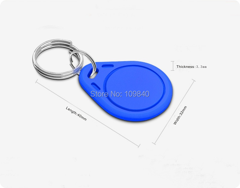 10pcs/lot 13.56mzh Keyfob ISO14443A RFID Keychains NFC Key Tag Cards For Access Control System