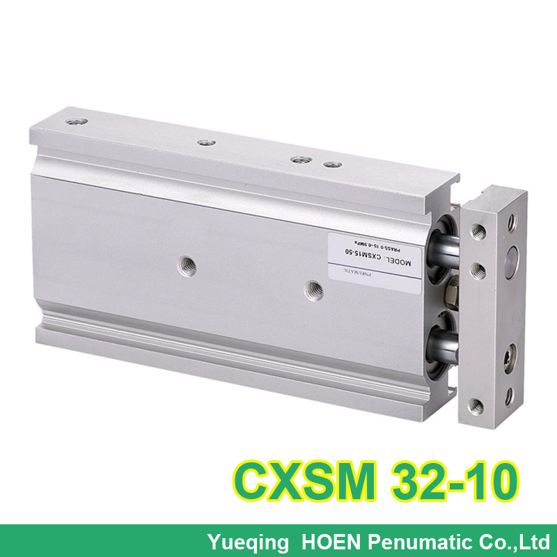 CXSM32-10 SMC Type CXSM 32x10 Compact Type Dual Rod Cylinder Double Acting high quality double acting pneumatic gripper mhy2 25d smc type 180 degree angular style air cylinder aluminium clamps