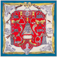 130cm 130cm 100 Silk Euro Brand Style Women Horse Saddle Printed Silk Square Scarf Femal Fashion