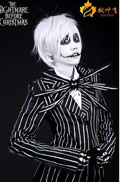 free shipping the nightmare before christmas jack skellington anime cosplay costume for adult custom made - Jack From Nightmare Before Christmas