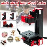 6 In 1 Multi Metal Mini Wood Lathe Motorized Jig saw Grinder Driller Milling CNC Combined Machine DIY Tool