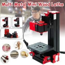 6 In 1 Multi Metalen Mini Hout Draaibank Gemotoriseerde zaag Grinder Driller Frezen CNC Gecombineerde Machine DIY Tool