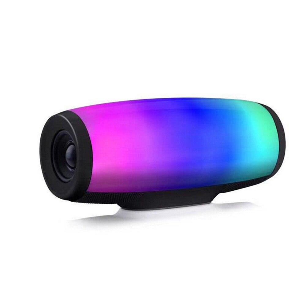 Haut-parleur sans fil bluetooth caisson de basses stéréo portable colonne de musique boîte de son coloré lumière LED MP3 FM Radio USB TF AUX pour xiomi
