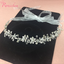 Handmade Bridal Crystal Rhinestone font b Hair b font Piece Women White Simulated pearl DIY Pricess