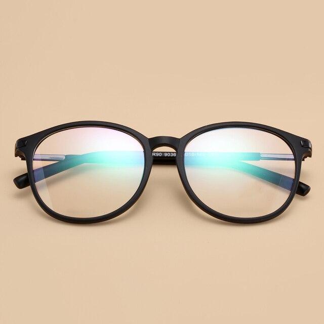Новое Прибытие Мода Корейский Бренд Ультра-легкий TR90 Близорукость Очки Кадр Большой Круговой Кадр Очки Винтаж Большой Кадр
