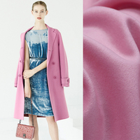 150CM Wide 600G M Solid Color Pink Autumn Winter Wool Woolen Fabric For Jacket Coat Suit