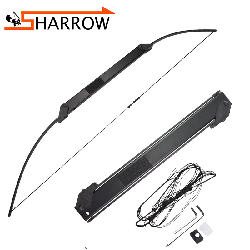 1pc Archery 30 50lbs Portable Folding Bow Straight Bow Teens Shot Training Bow Outdoor Sports Hunting