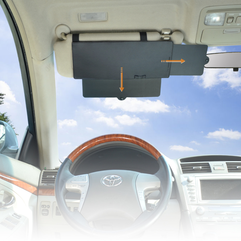 Sun Blocker For Car >> WANPOOL Car Visor Anti glare Sunshade Extender Sun Blocker ...