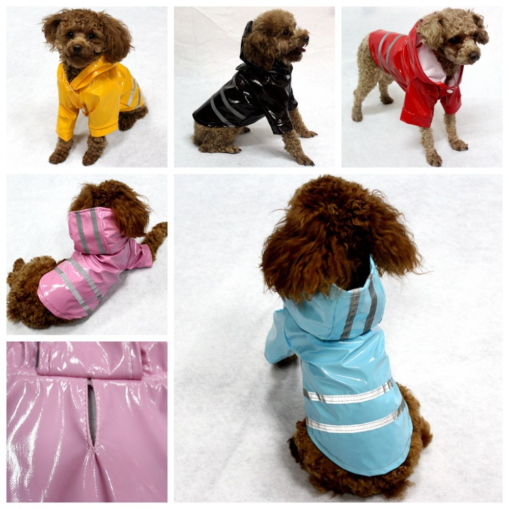 Gomaomi Waterproof Pet Dog Raincoat Clothes With Reflective Stripe Dog Hoodie Jacket Pet Products