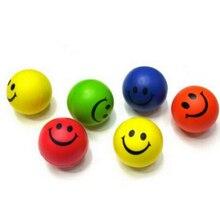 Игрушечные сожмите novetly усмешки стресс мячи упражнение рук пу диаметр резиновые