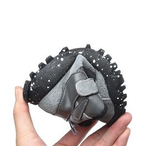 Image 4 - 작은 소년 발목 부츠 패션 블랙 그레이 육군 녹색 유연한 단독 따뜻한 정품 가죽 부츠 chaussure bebe zapatos kids boots