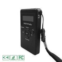 Micro USB Dual Band Mini Digital FM DAB Radio Player Portable None Bluetooth Receiver Kit Music LCD Display Display Black Stereo