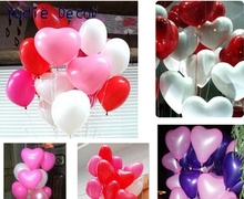 2017 New 10pcs/lot 10inch heart latex balloon air balls inflatable wedding birthday party decoration Float balloons toys