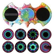 Batman LED Fidget Finger Spinner LED Plastic EDC Hand Spinner For Autism and ADHD Rotation Spiner Anti Stress Kids Toys W816