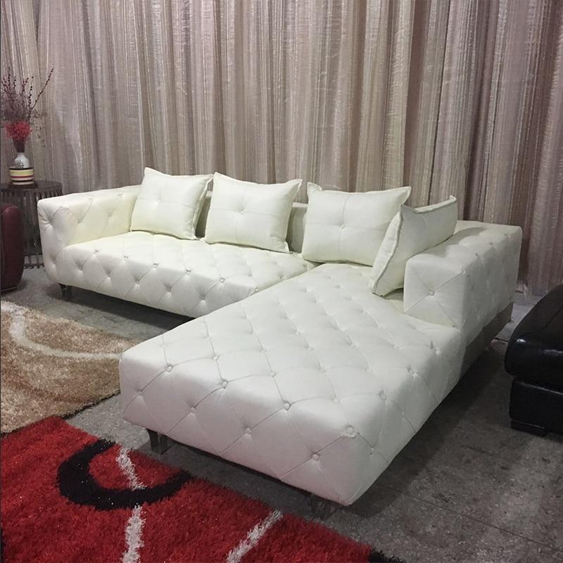 Sofa Classic Sleeper Seattle Modern Leisure Buckle Bonded Leather Creative L Shaped Ce 5060